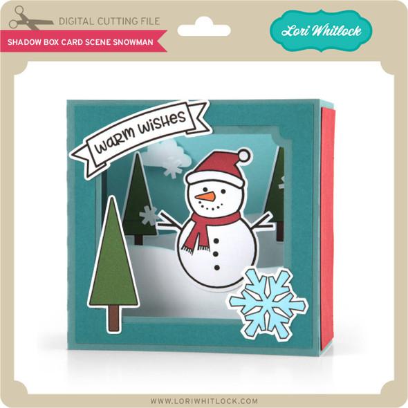Shadow Box Card Scene Snowman