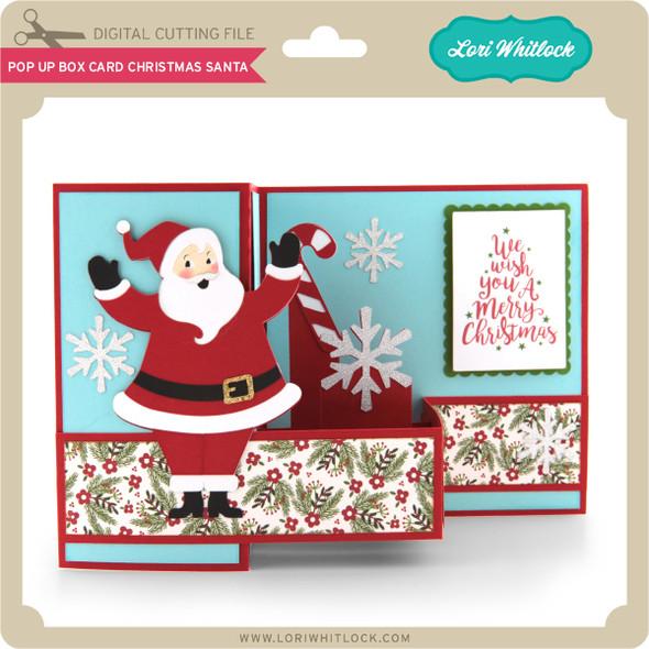 Pop Up Box Card Christmas Santa