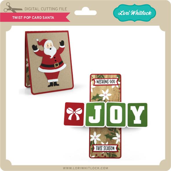 Twist Pop Card Santa
