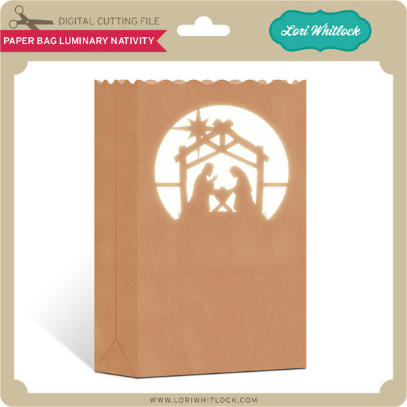 Paper Bag Luminary Nativity