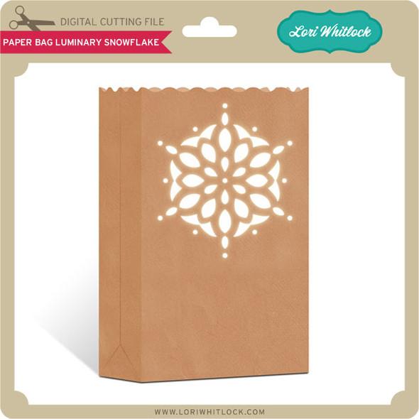 Paper Bag Luminary Snowflake