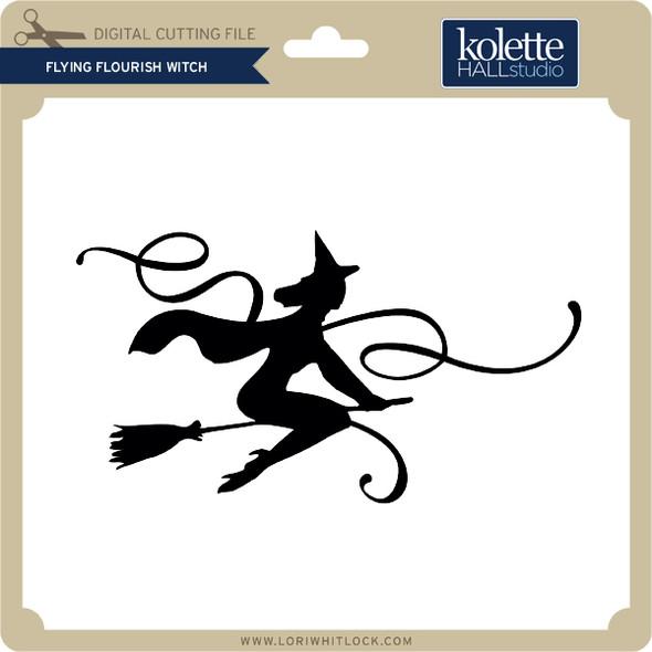 Flying Flourish Witch