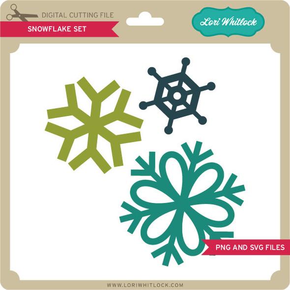 Snowflake Set PNG and SVG