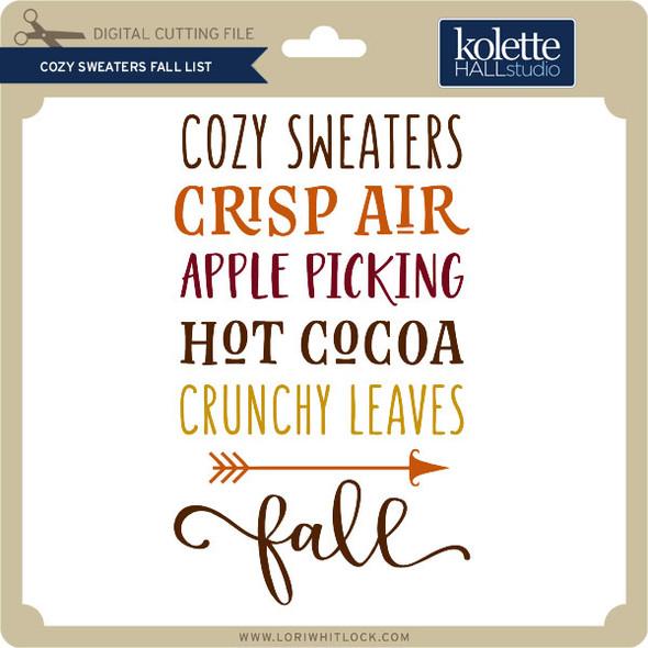 Cozy Sweaters Fall List