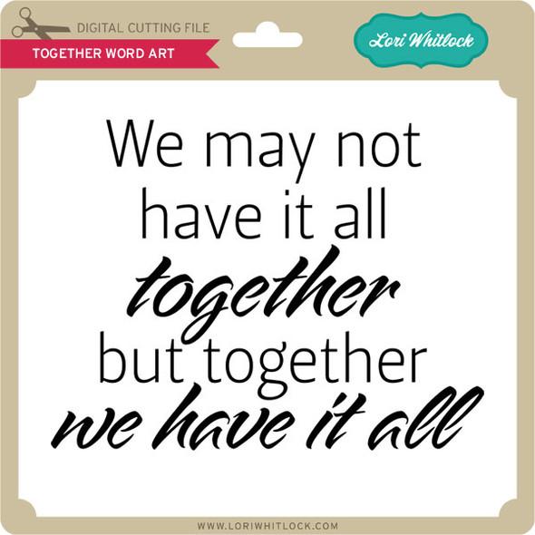 Together Word Art Titles