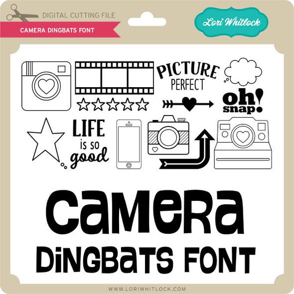 Camera Dingbats Font