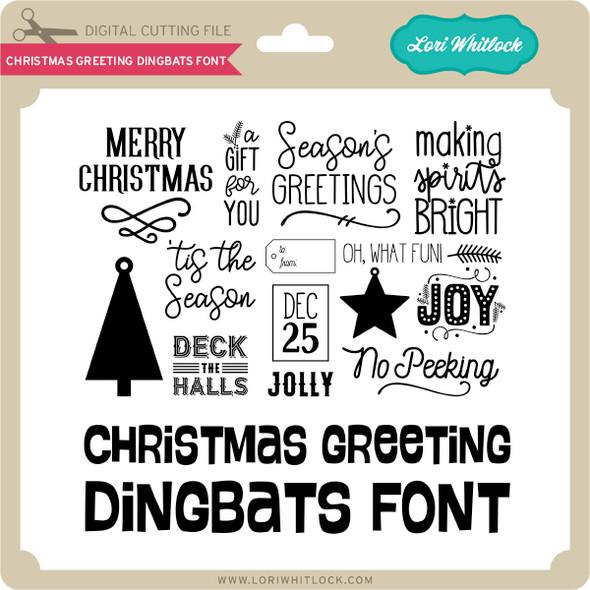 Christmas Greeting Dingbats Font