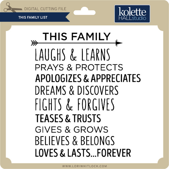 This Family List