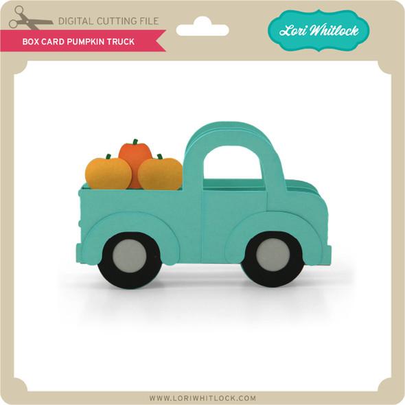 Box Card Pumpkin Truck