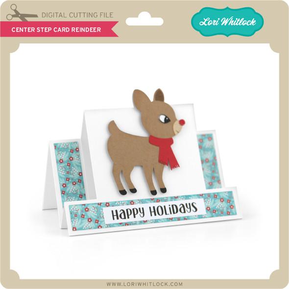 Center Step Card Reindeer