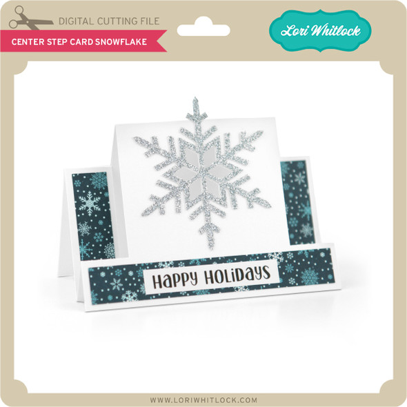 Center Step Card Snowflake