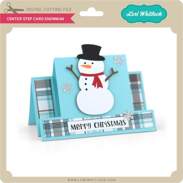 Center Step Card Snowman