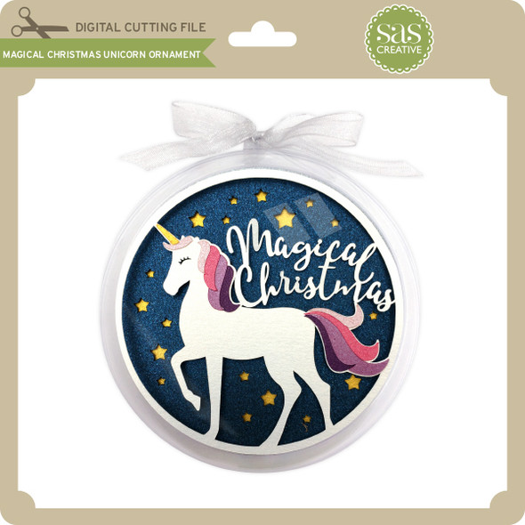 Magical Christmas Unicorn Ornament