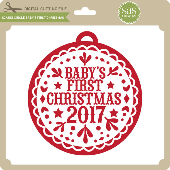 Scandi Circle Baby's First Christmas