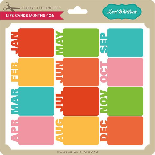 Life Card Months 4x6