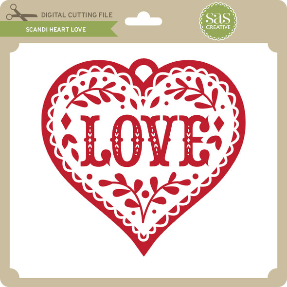 Scandi Heart Love