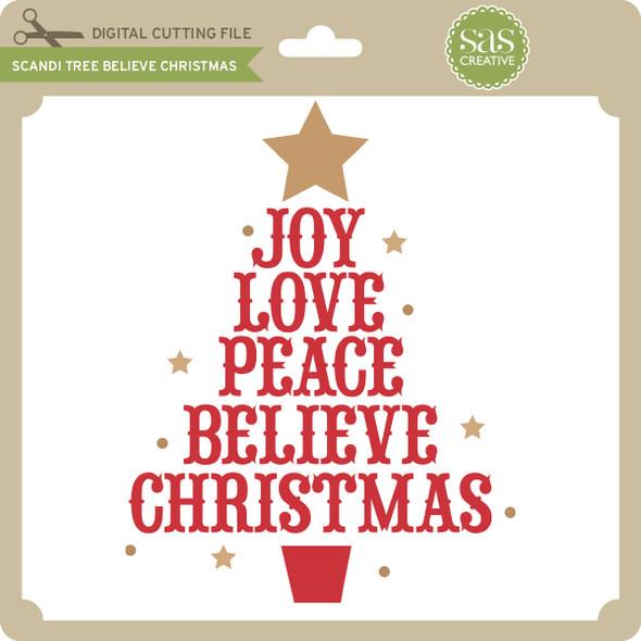 Scandi Tree Believe Christmas
