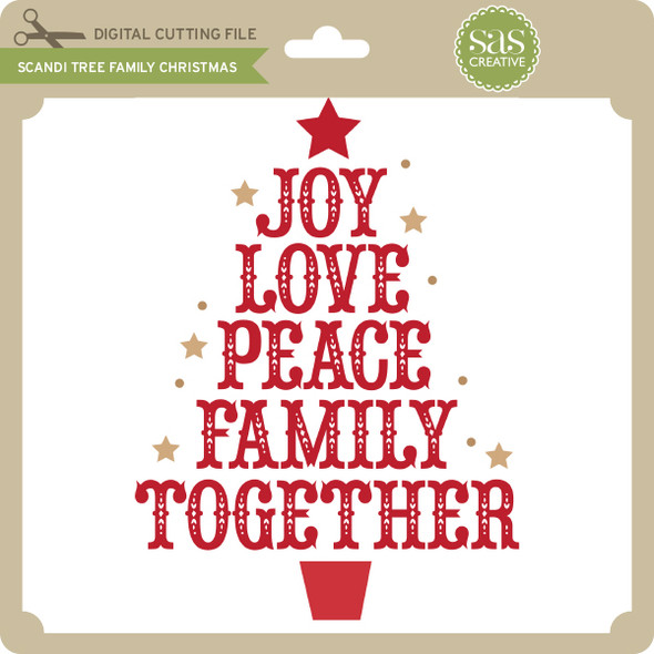 Scandi Tree Family Christmas