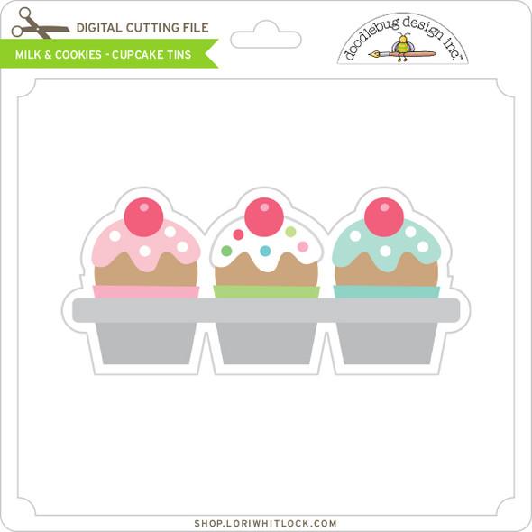 Milk & Cookies - Cupcake Tins