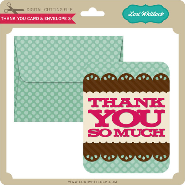 Thank You Card and Envelope 3