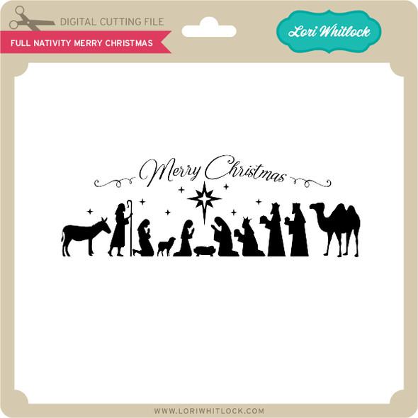 Full Nativity Merry Christmas