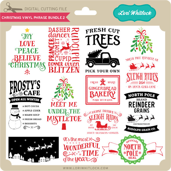 Christmas Vinyl Phrase Bundle 2
