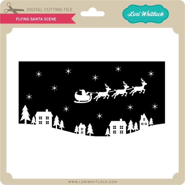 Flying Santa Scene