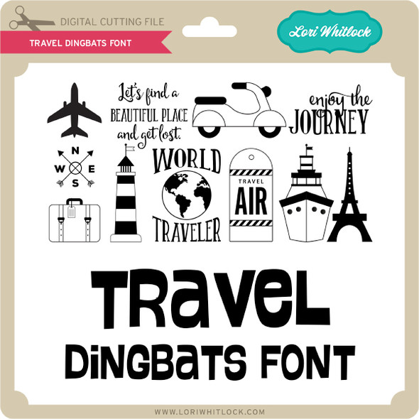 Travel Dingbats Font