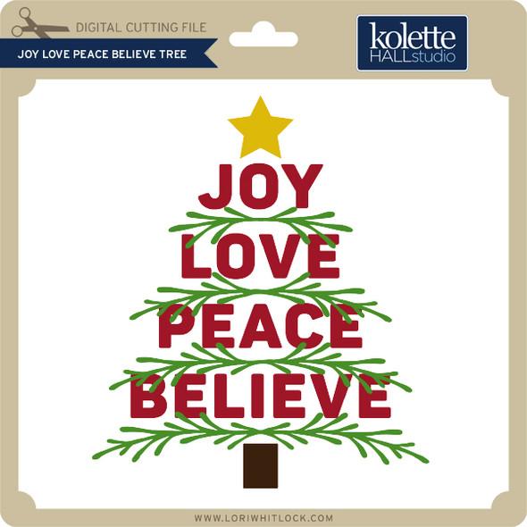 Joy Love Peace Believe Tree 2
