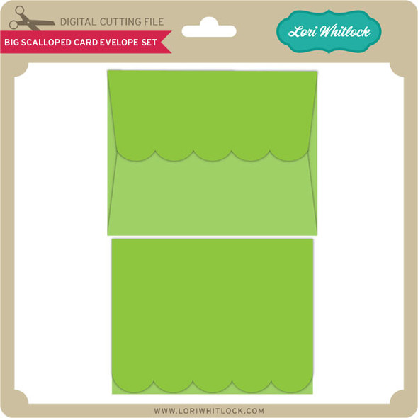 Big Scalloped Card Envelope Set