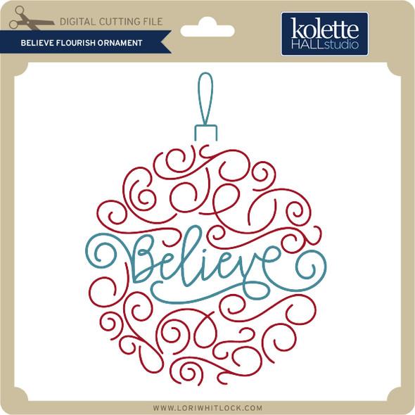Believe Flourish Ornament
