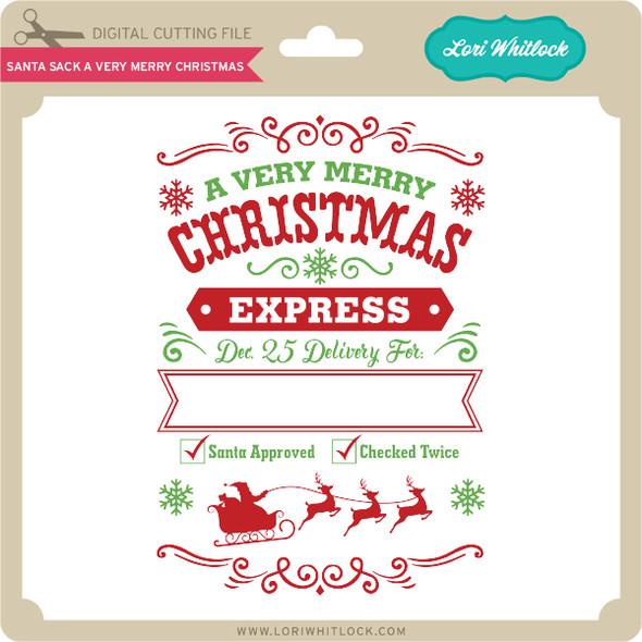 Santa Sack A Very Merry Christmas