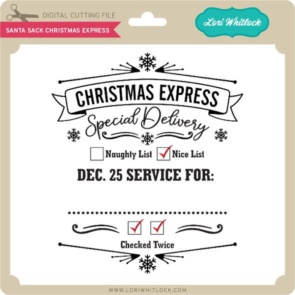 Santa Sack Christmas Express