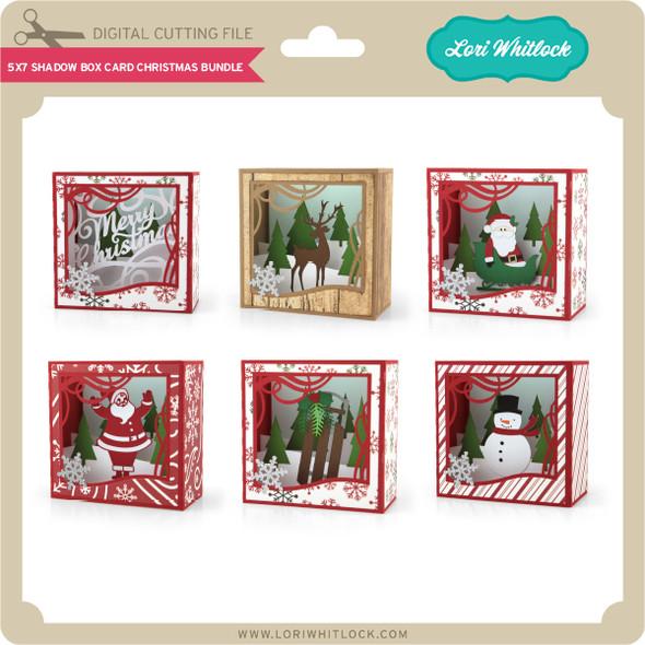 5x7 Shadow Box Card Christmas Bundle