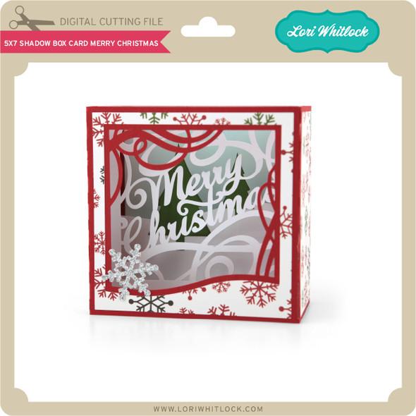 5X7 Shadow Box Card Merry Christmas