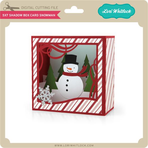 5X7 Shadow Box Card Snowman