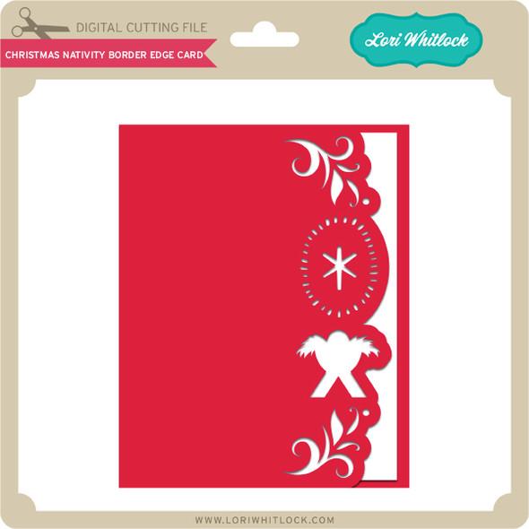 Christmas Nativity Border Edge Card