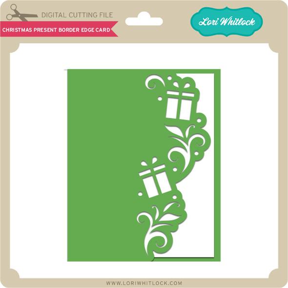 Christmas Present Border Edge Card