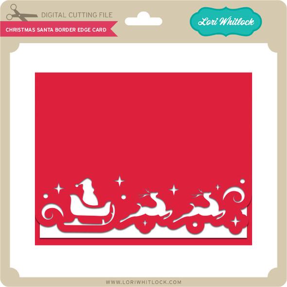 Christmas Santa Border Edge Card