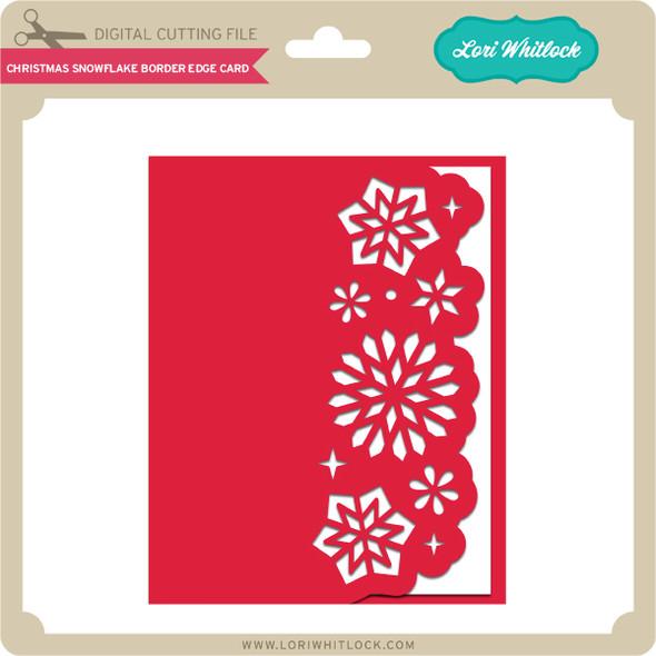 Christmas Snowflake Border Edge Card