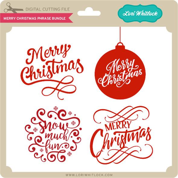 Merry Christmas Phrase Bundle
