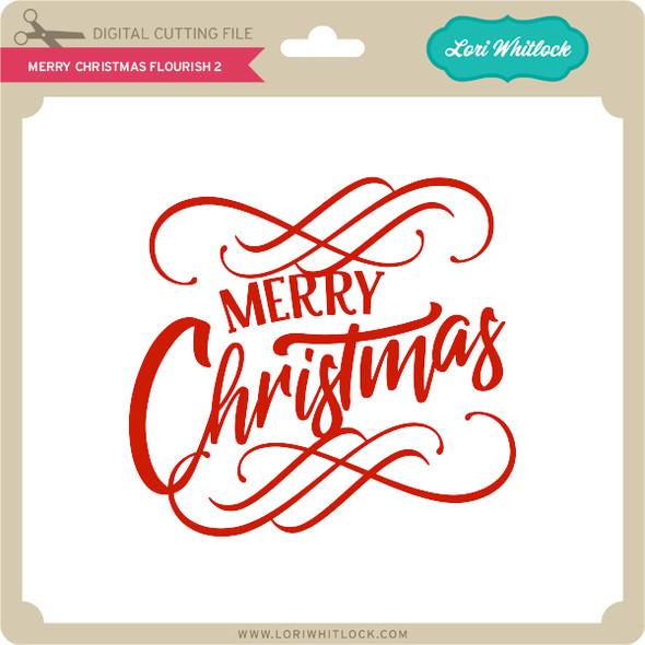 Merry Christmas Flourish 2