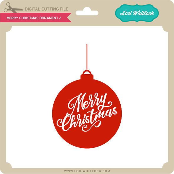 Merry Christmas Ornament 2