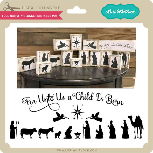 Full Nativity Child is Born Printable PDF