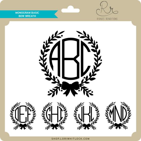 Monogram Basic Bow Wreath