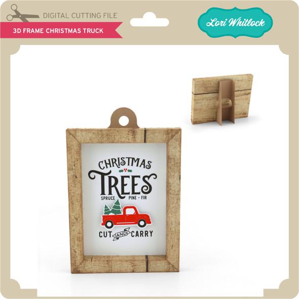 3D Frame Christmas Truck