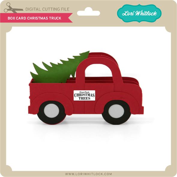 Box Card Christmas Truck