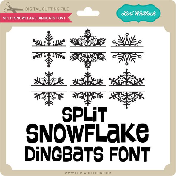 Split Snowflake Dingbats Font