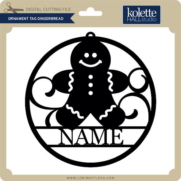 Ornament Tag Gingerbread