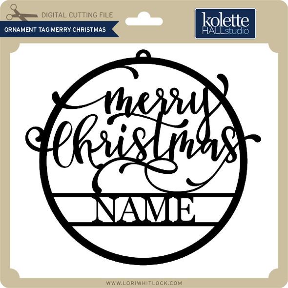 Ornament Tag Merry Christmas
